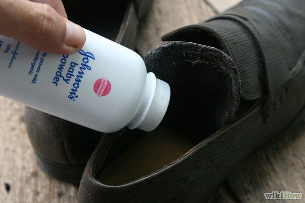 Sprinkle Baby Powder on Shoe