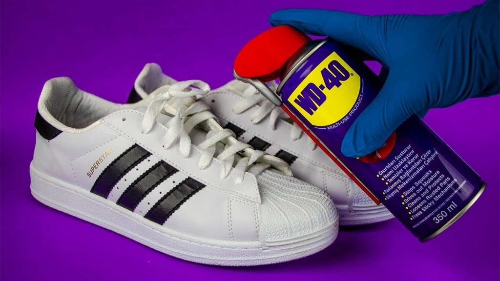 WD-40 on Shoes